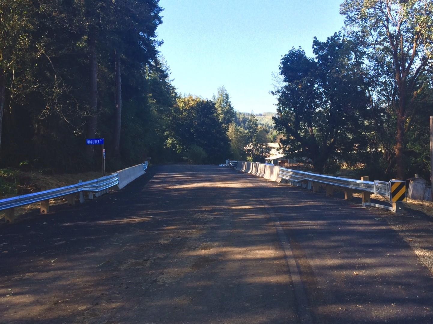 Blankenship paved bridge after